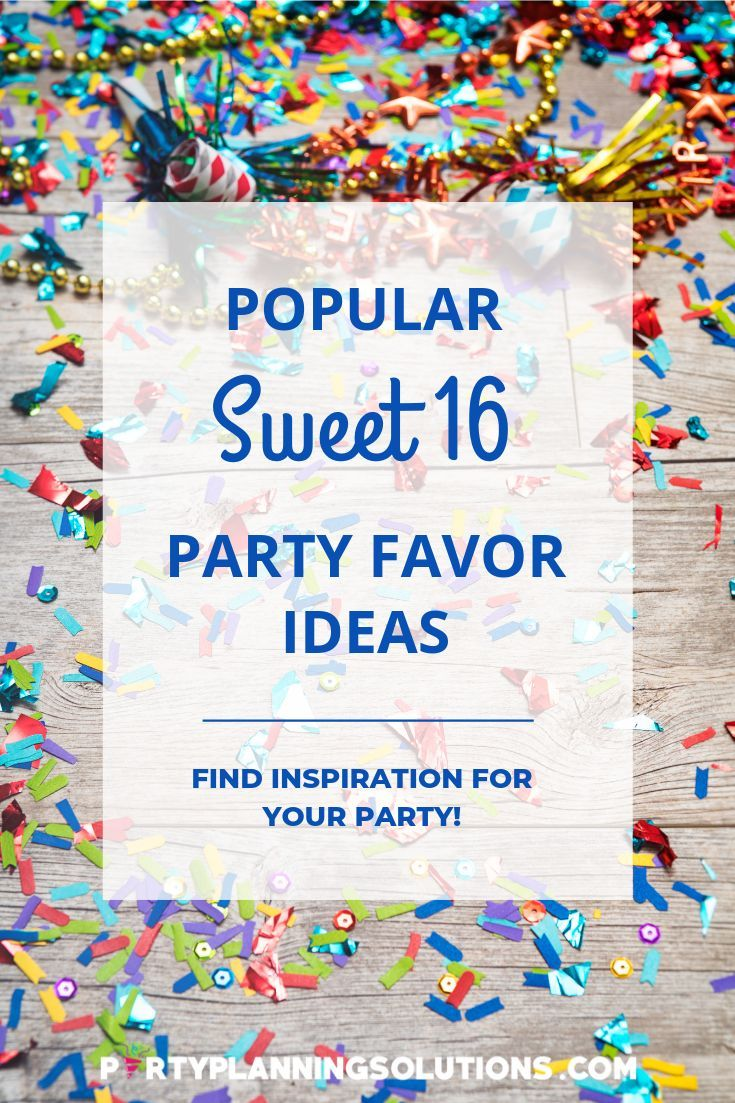 ⋆ 80 Easy Sweet Sixteen Party Favors To Think About ⋆