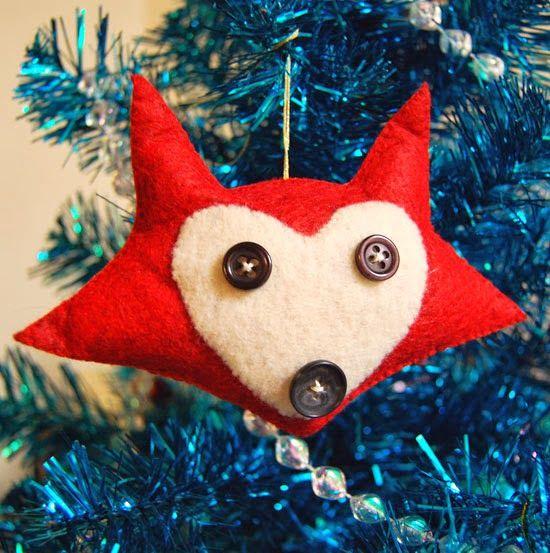 The Craftinomicon: Felt Fox Ornament