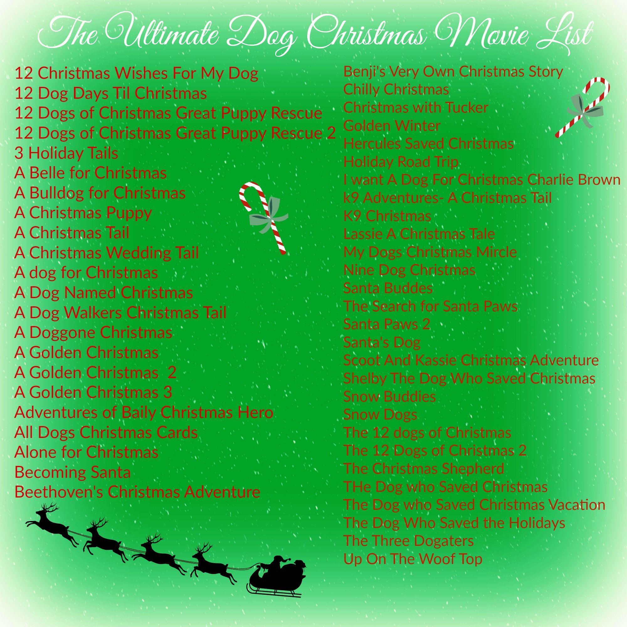 Dog Christmas Movie List Holidays Dogs Christmas Movies Christmas Dog Christmas Movies List Pet Holiday