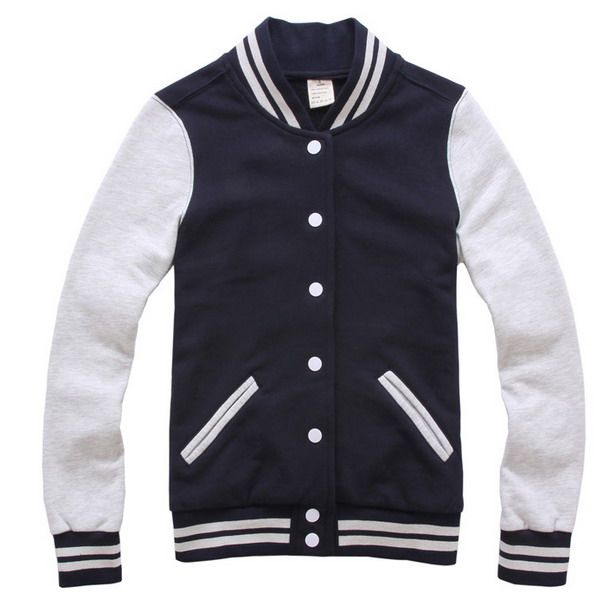 Girls Navy White Cotton Baseball Jacket Sale   herve leger bandage ...