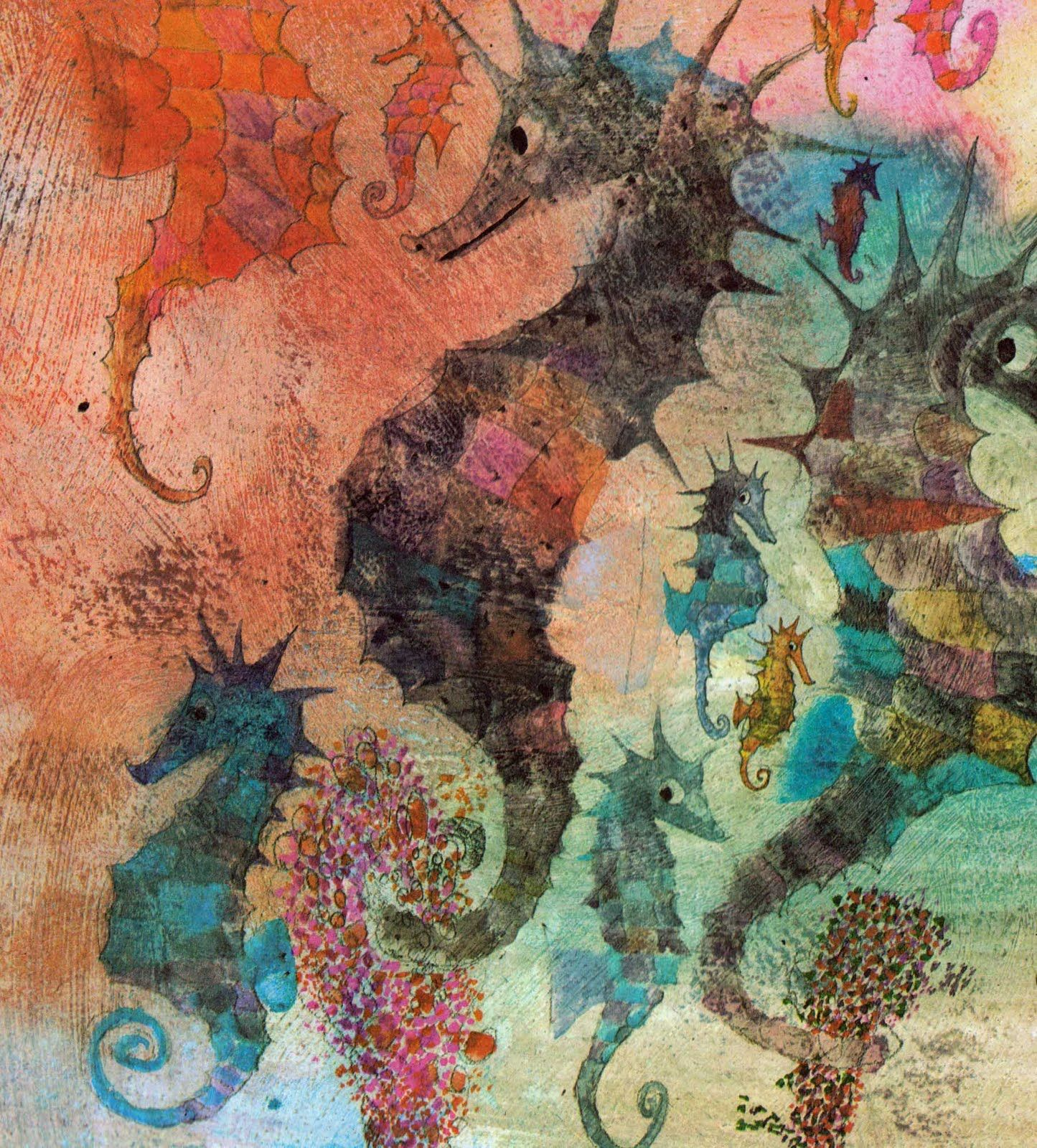 Watercolor books for kids - Brian Wildsmith Seahorse Artseahorsesbook Illustrationsillustration Art Book Artvintage Kidswatercolor