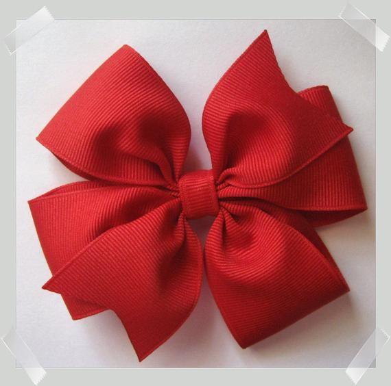 Items similar to CUSTOM VALUE PACKAGE of 5 Medium Pinwheel Style Grosgrain Hair Bow - In Your Choice of Colors on Etsy