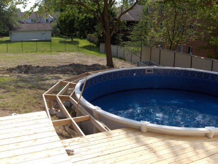 wooden deck ideas for above ground pool | Cool Above Ground Pool Ideas | Pool, Above Ground Swimming ...