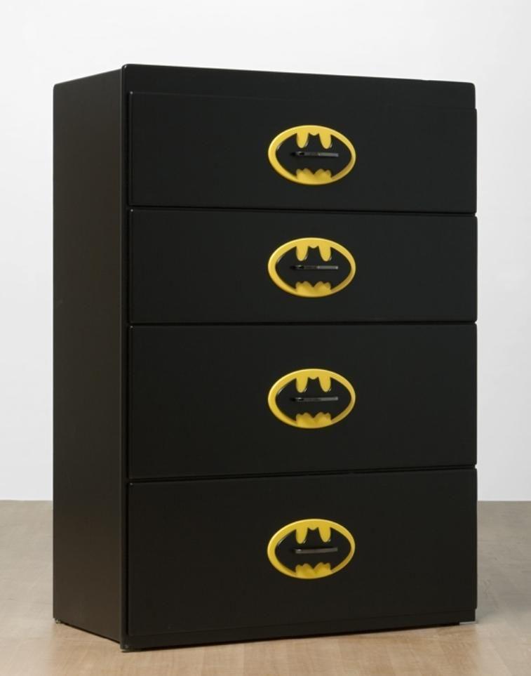 Superhero Bedroom Ideas | Dresser, Batman and Stenciling