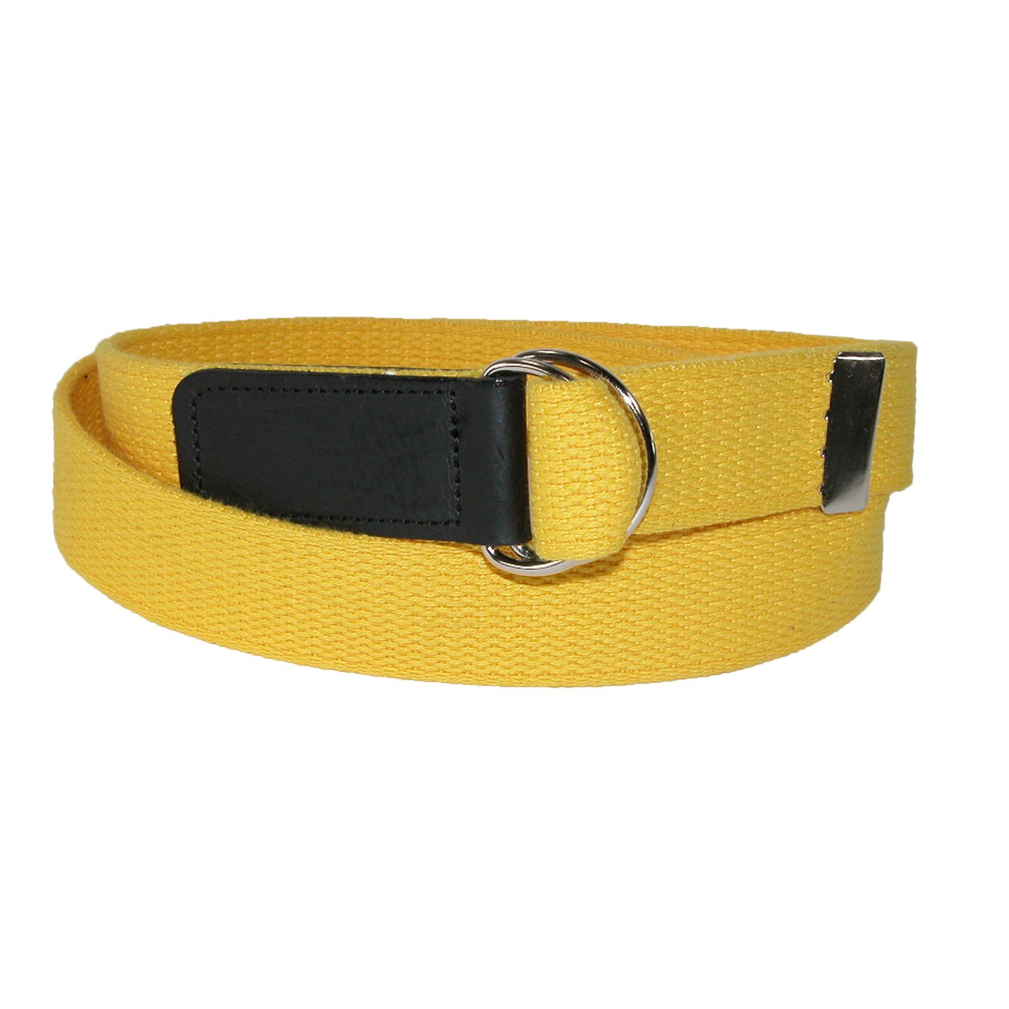 Ctm Plus Size Cotton Web Belt With Double D Ring Buckle Belt