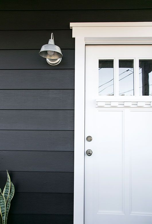 Paint It Black I Partnered With Benjamin Moore Whose Paints Adore And We Went Their In Aura Exterior Flat Onyx 2133 10 The Same