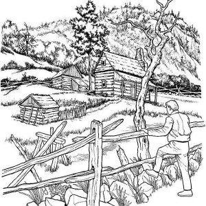 Farming Landscapes Coloring Pages