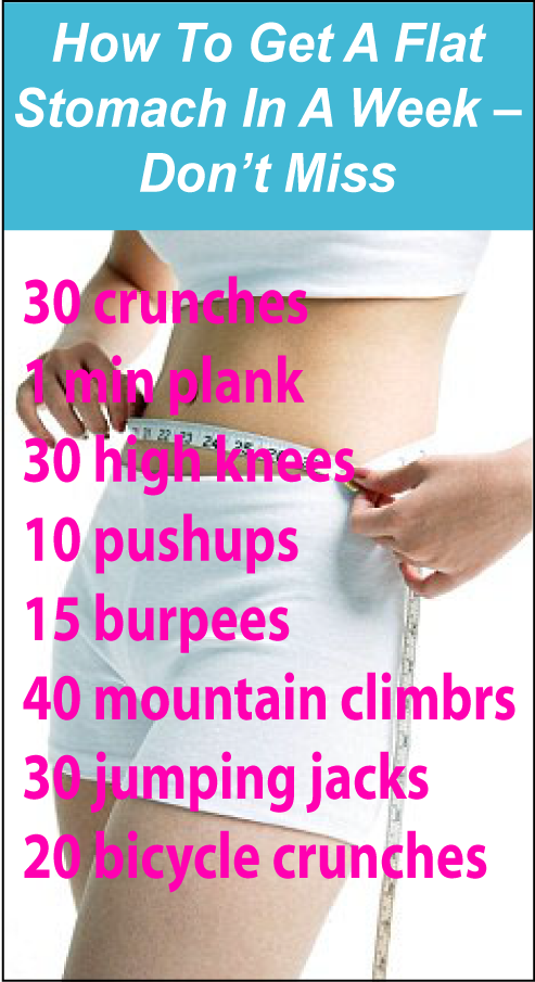 How To Get A Flat Stomach In A Week | Flat stomach ...