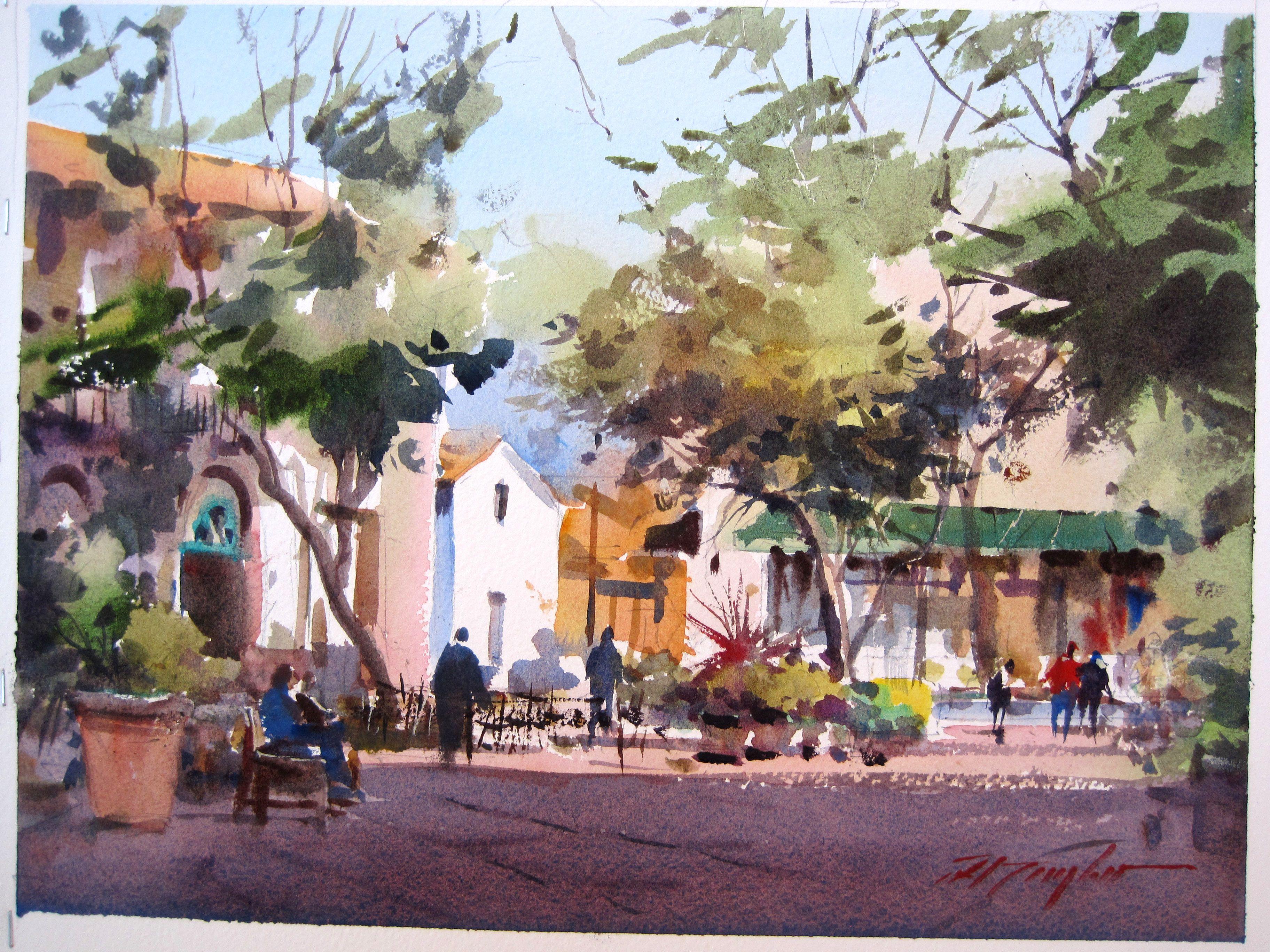 Watercolor artist magazine palm coast fl - David Taylor Plein Air Santa Barbara Watercolor Landscapewatercolour Paintinglandscape