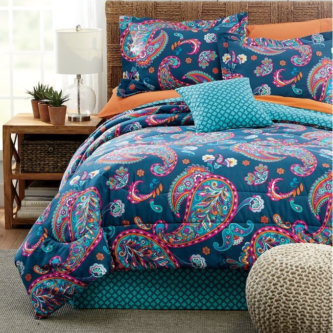 Jewel Comforter Set Accent Pillow And Window Treatments