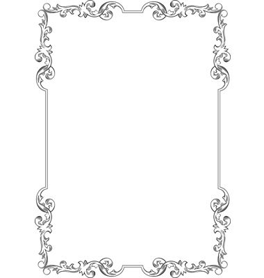 elegant frame vector image on vectorstock - Elegant Frames