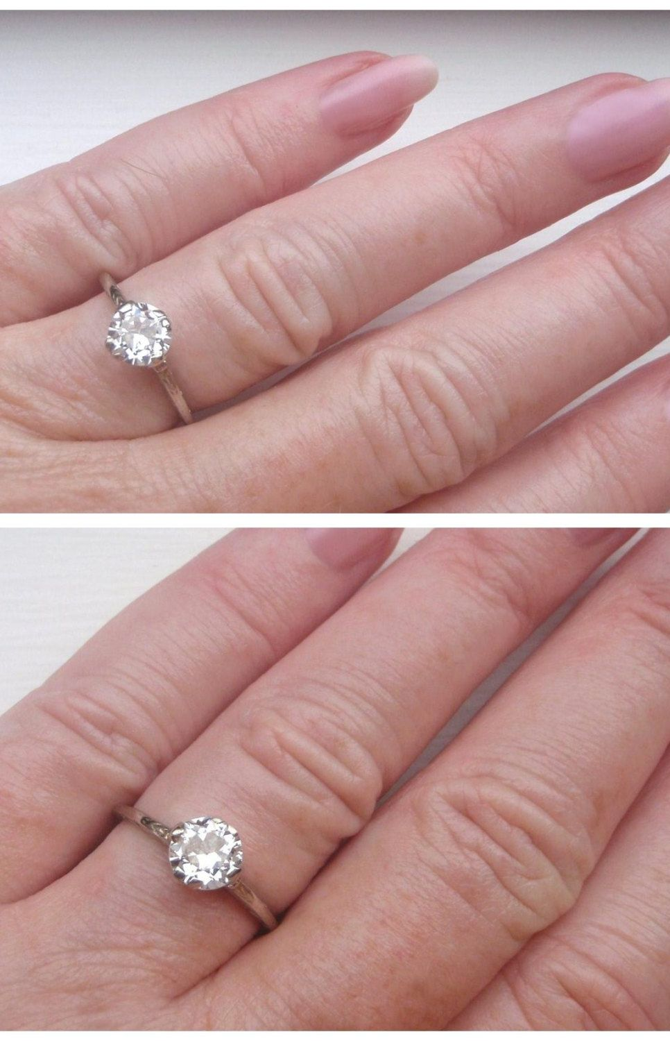 Edwardian Solitaire .80ct Diamond Vintage Engagement Ring. Absolute ...