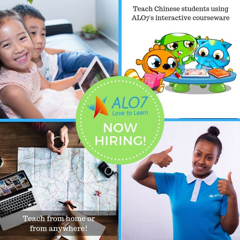 Teach English online with ALO7 English, and earn between