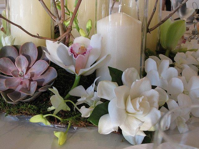 Gardenia Wedding Centerpiece Orchid Centerpieces Wedding Wedding Flowers Orchids