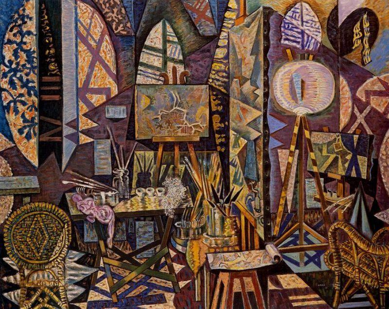 Tableaux sur toile, reproduction de Hatzykiriakos-ghikas, Artist's Studio, 130x162cm