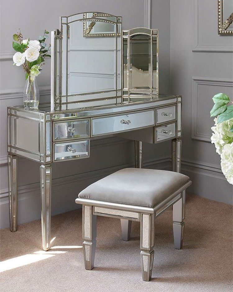 Vanity Mirror Dressing Table And Stool Stylish Mirror Vanity