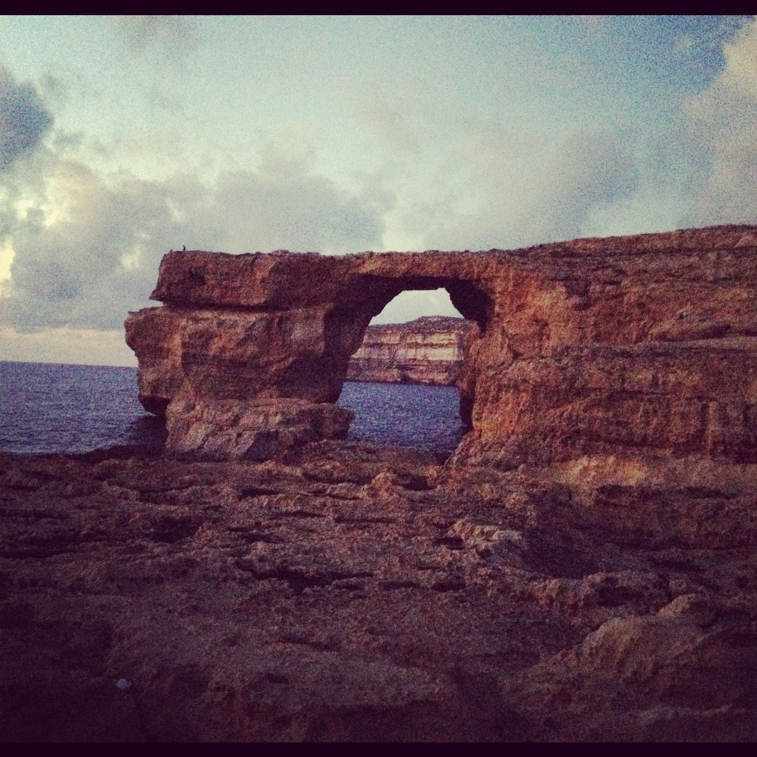 The Azure Window, Gozo. At Sunset.