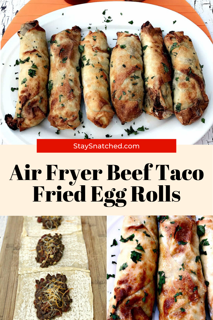 Air Fryer Beef Taco Fried Egg Roll in 2020 Weeknight