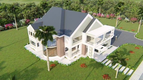 4 Bedroom House Plan (Option 3, Grey ), Modern House Floor ...