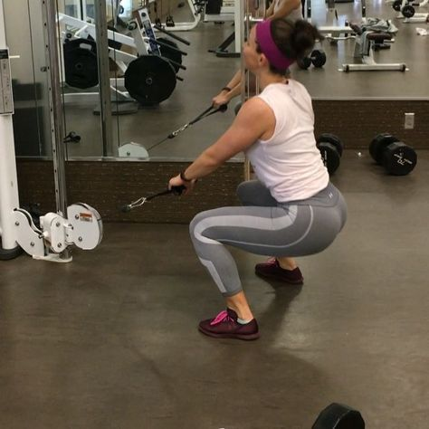 weighted cable jump squats the full glute workout is on