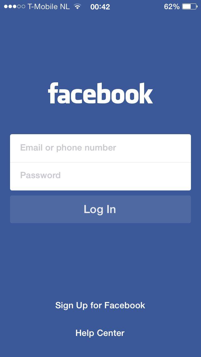 Facebook Login Screen Facebook Help Center Facebook Help Smartphone Hacks