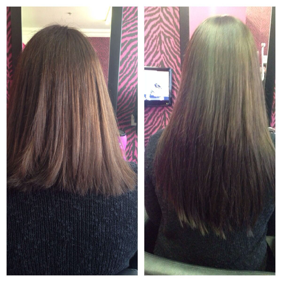 Before After Micro Ring Hair Extensions Hair Pinterest