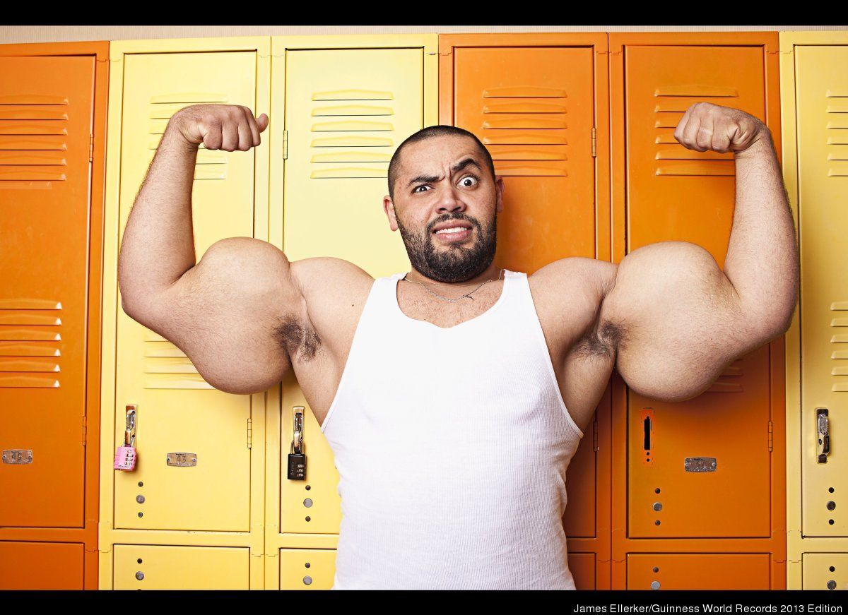 worlds largest biceps the largest male bicep belongs to mostafa ismail of egypt his left
