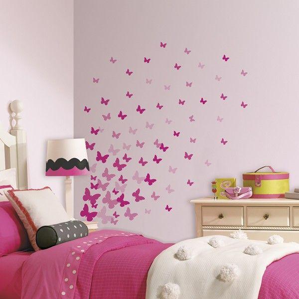 Pink Flutter Butterflies Wall Stickers