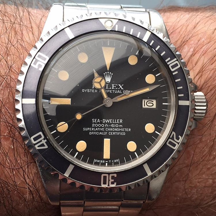 """Enjoying this Rolex Sea-Dweller#unpolished #original"""