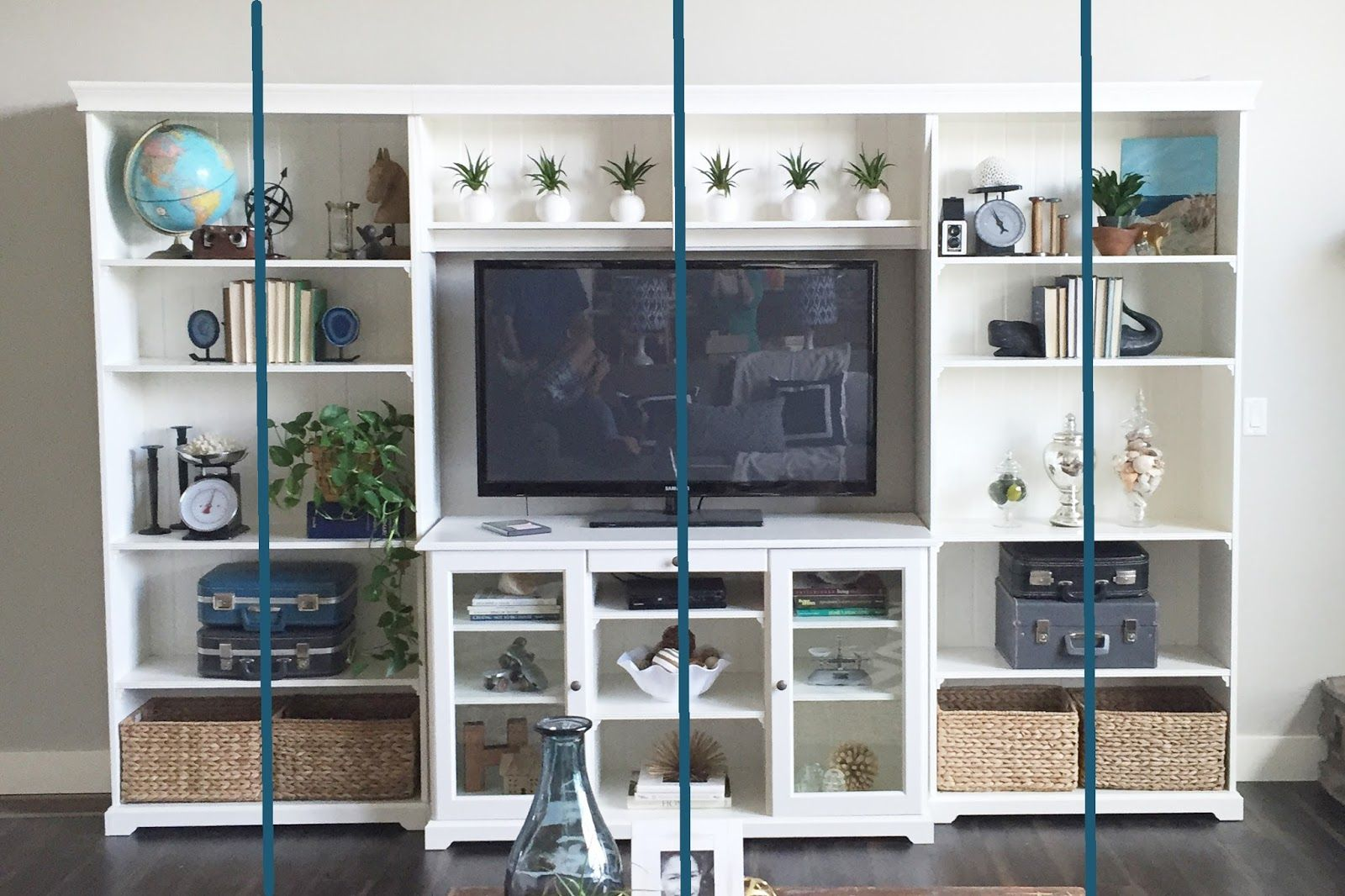 Credenza Liatorp Ikea : How to style the ikea liatorp bookshelves! hubby projects