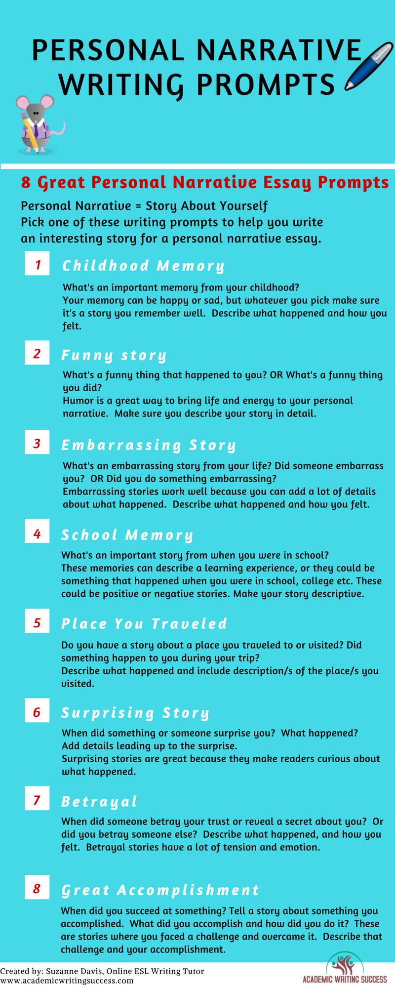 How To Master Writing A Compelling Personal Narrative Academic Writin Prompt Prompts Favorite Memory Essay