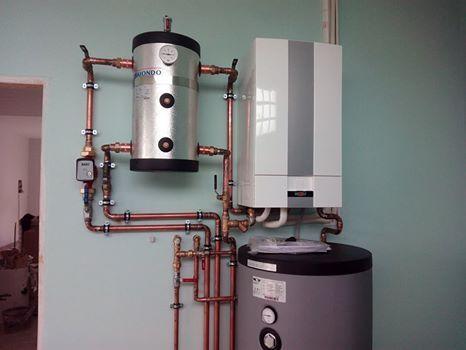 Sistema de calefacci n climatizaci n y producci n de agua - Suelo radiante frio ...