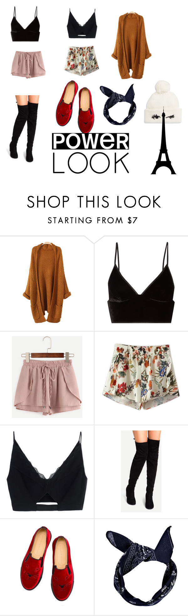 """""""Chill🍁🍁🍁🍁"""" by reachele ❤ liked on Polyvore featuring T By Alexander Wang, WithChic, Chicnova Fashion, Versace, Charlotte Olympia, Boohoo and Kate Spade"""