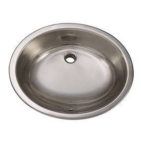 Decolav Simply Stainless Brushed Steel Undermount Oval Bathroom Sink With Overflow 1300 B