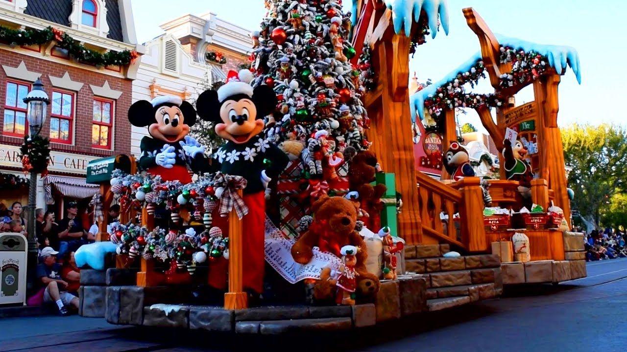 A Christmas Fantasy Parade At Disneyland Park During Holidays At Disneyland Disneyland Disneyland Park Disneyland Winter Wonder
