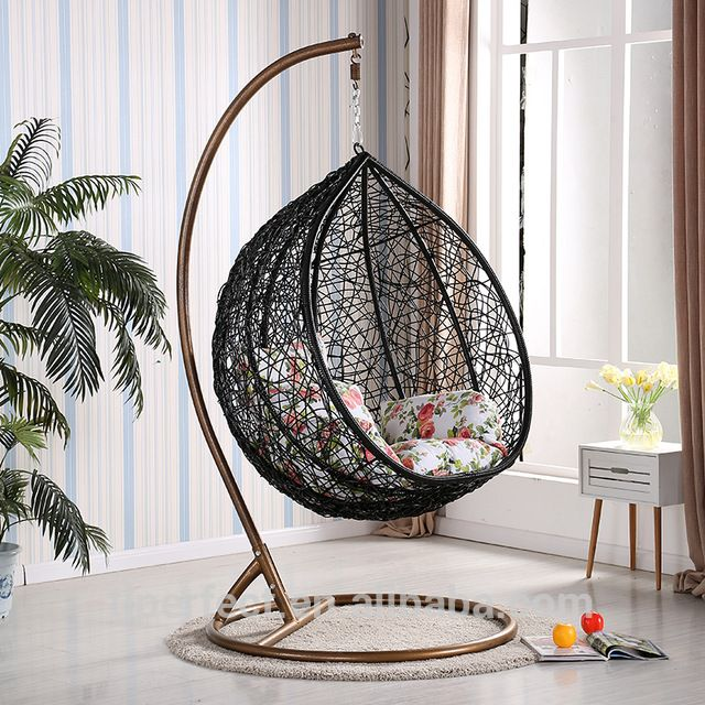 Source Rattan Wicker Hanging Egg Chair Outdoor Jhula Patio Garden