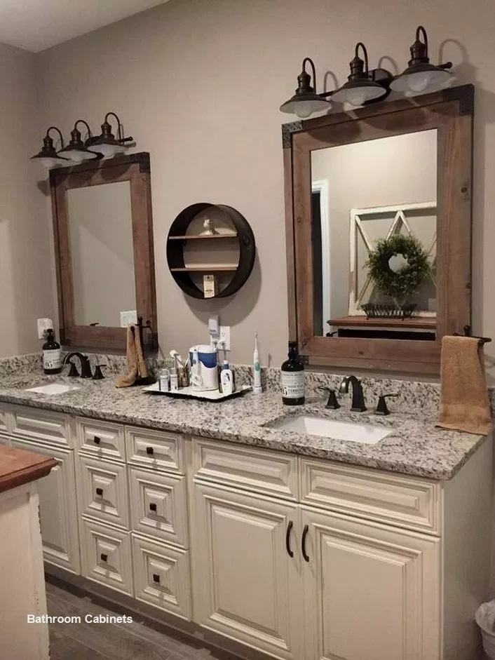 65 Gorgeous Farmhouse Master Bathroom Decorating Ideas 21 With