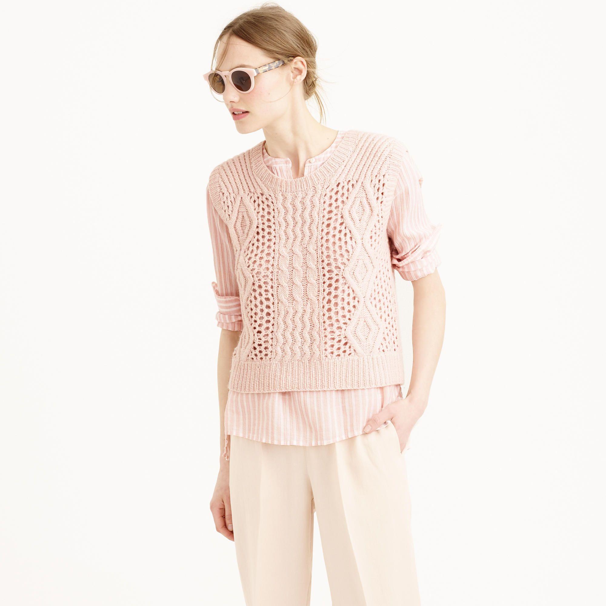 Ryan Roche™ for J.Crew handknit cashmere sweater-vest - Ryan Roche ...
