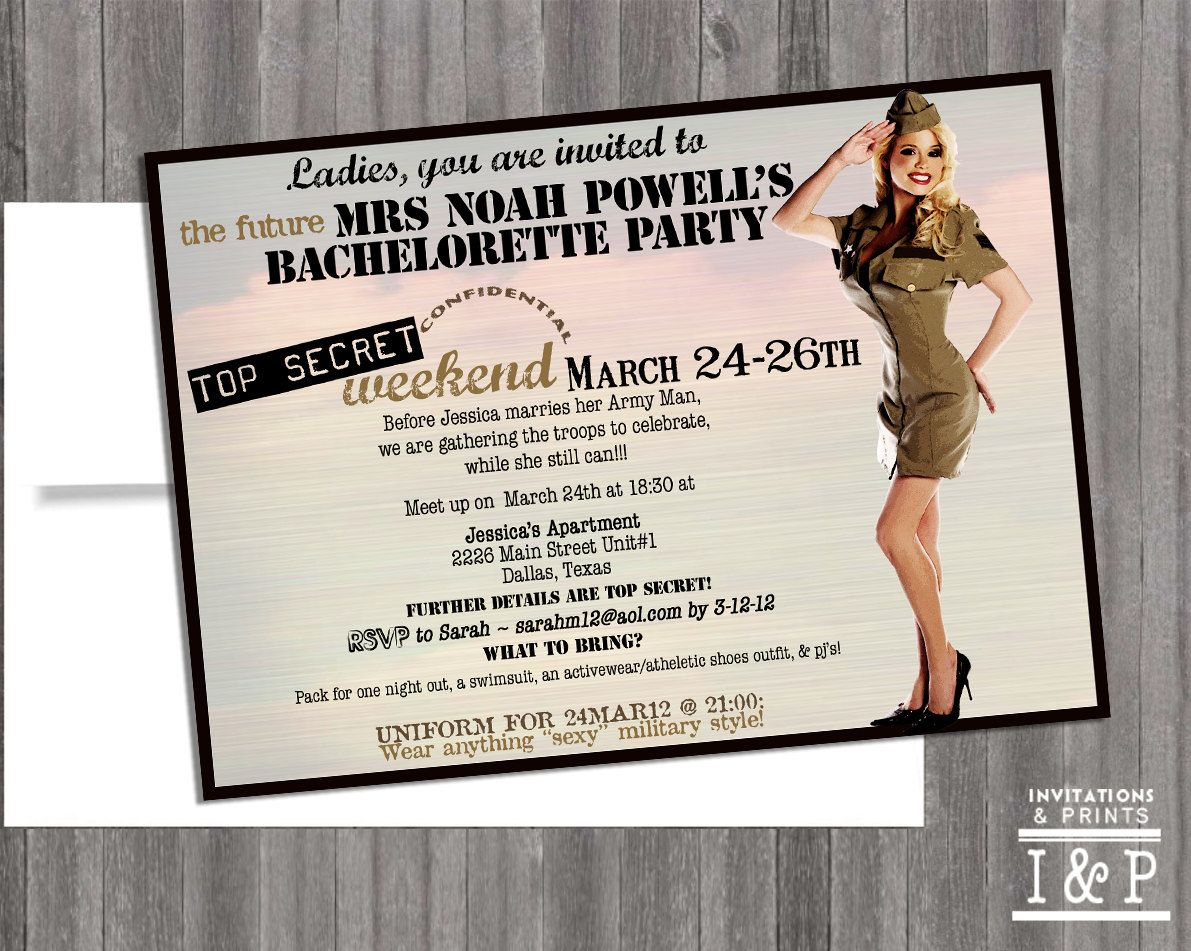 Military theme party invite idea | Pin up party | Pinterest ...