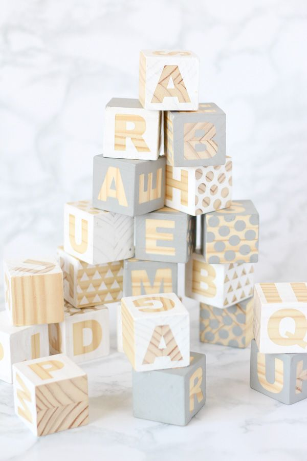 Wooden Baby Blocks Babyshower Craft Diy Pure Sweet Joy Baby Blocks Diy Baby Decor Diy Wooden Baby Blocks