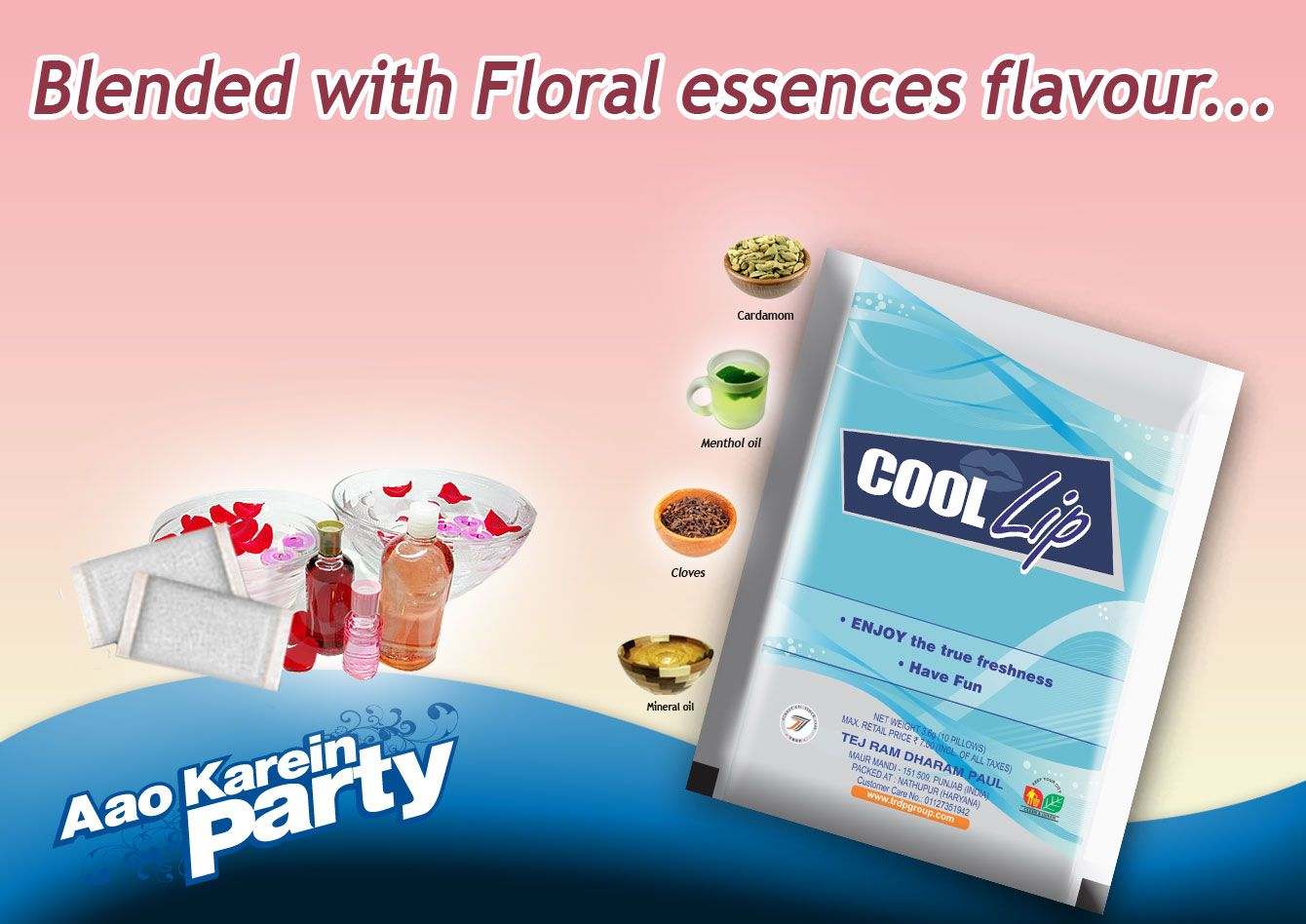 Enjoy Coollip With Floral Essence And Feel Fresh