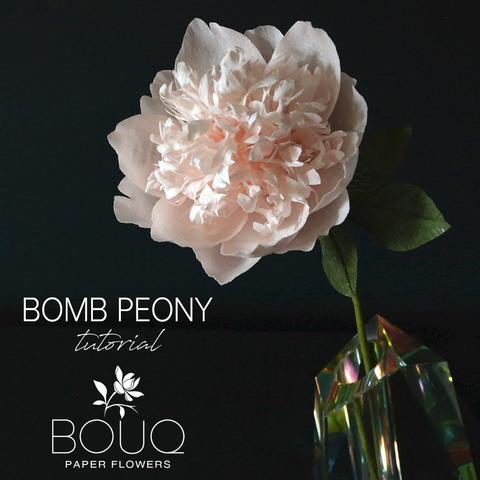Bomb Peony Crepe Paper Flower DIY Tutorial