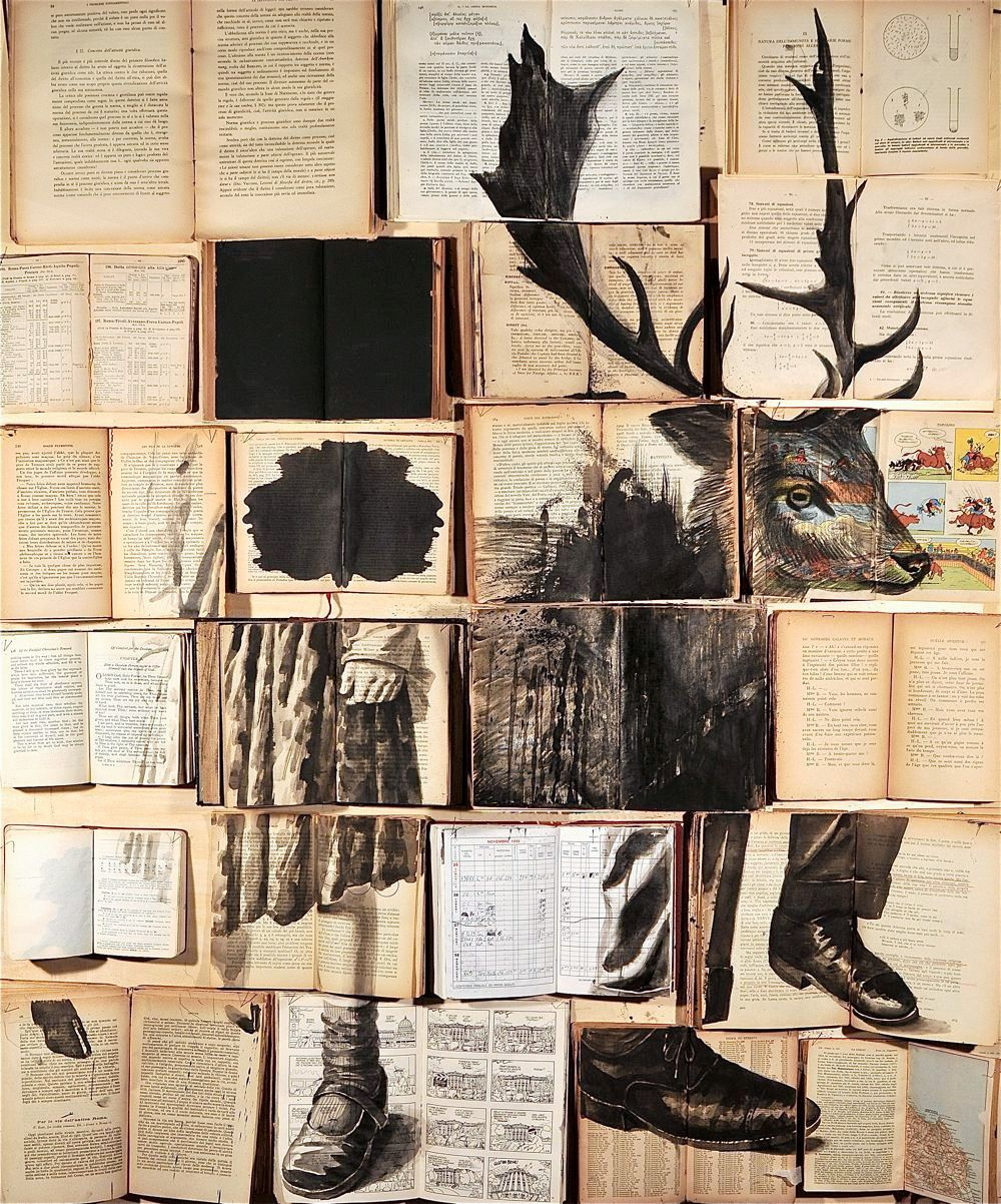 Twilights: New Ink Paintings on Vintage Books by Ekaterina Panikanova  http://www.thisiscolossal.com/2015/01/twilights-new-ink-paintings-on-vintage-books-by-ekaterina-panikanova/