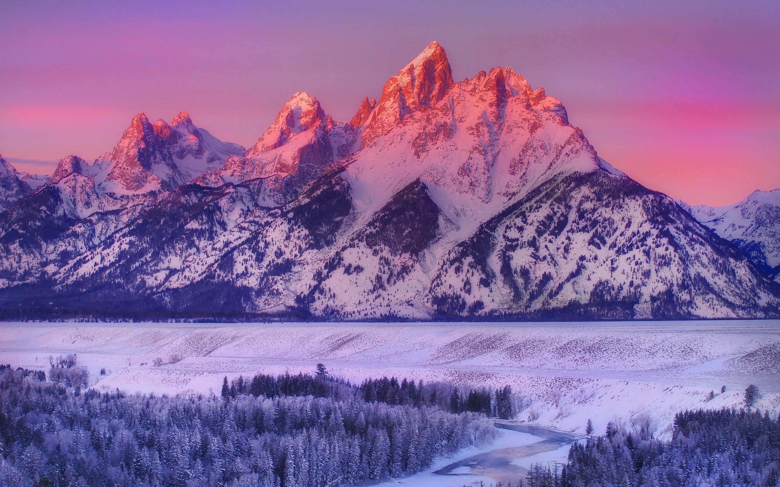 Snow Coned Mountain Snow Covered Mountains At Golden Hour Mountains Winter Landscape Snow Sunl Winter Wallpaper Colorado Winter Colorado Mountains Winter Hd wallpaper river mountain snow trees