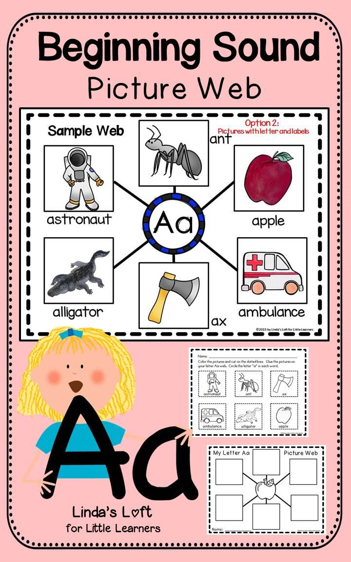 Develop your students' phonemic awareness with Letter Aa Beginning Sound  Picture Web Activity. See