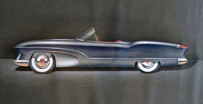 Bill Robinson 1954 Plymouth Belmont concept sketch