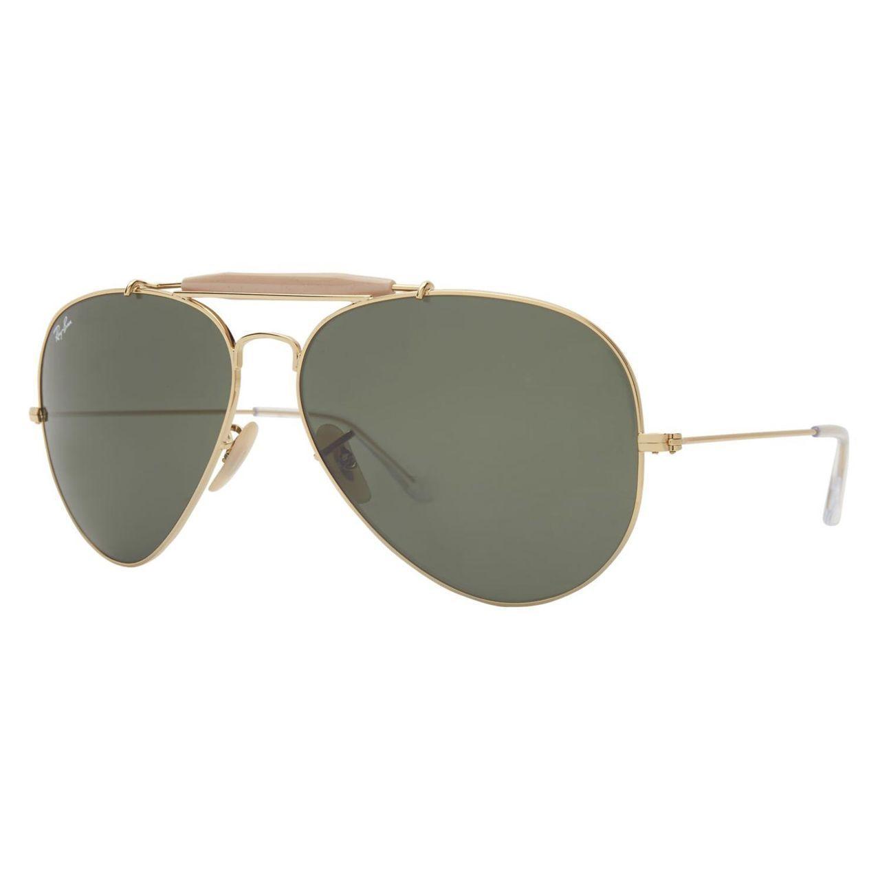 373abeec4c658 Ray-Ban Aviator Sunglasses RB 3029 L2112, Frame, Green Lens   wear ...