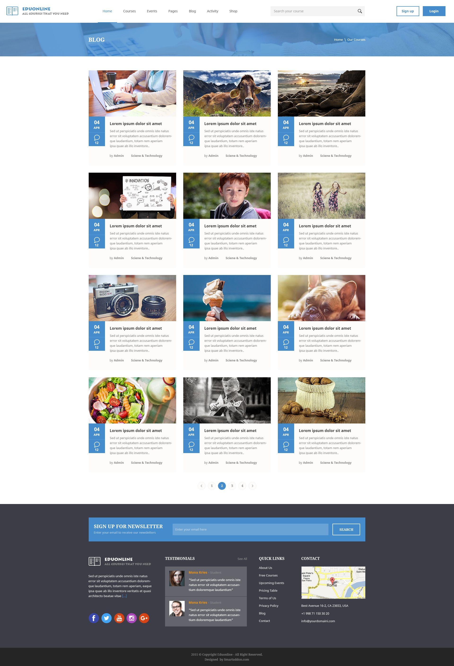 Eduonline - Multipurpose Business PSD Template | Creative | Psd