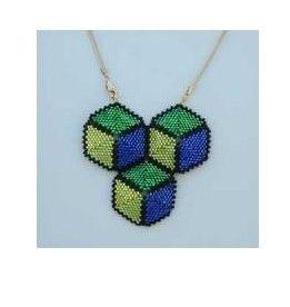 Jewelry Workshop: Tumbling Blocks Necklace Santa Ana, California  #Kids #Events