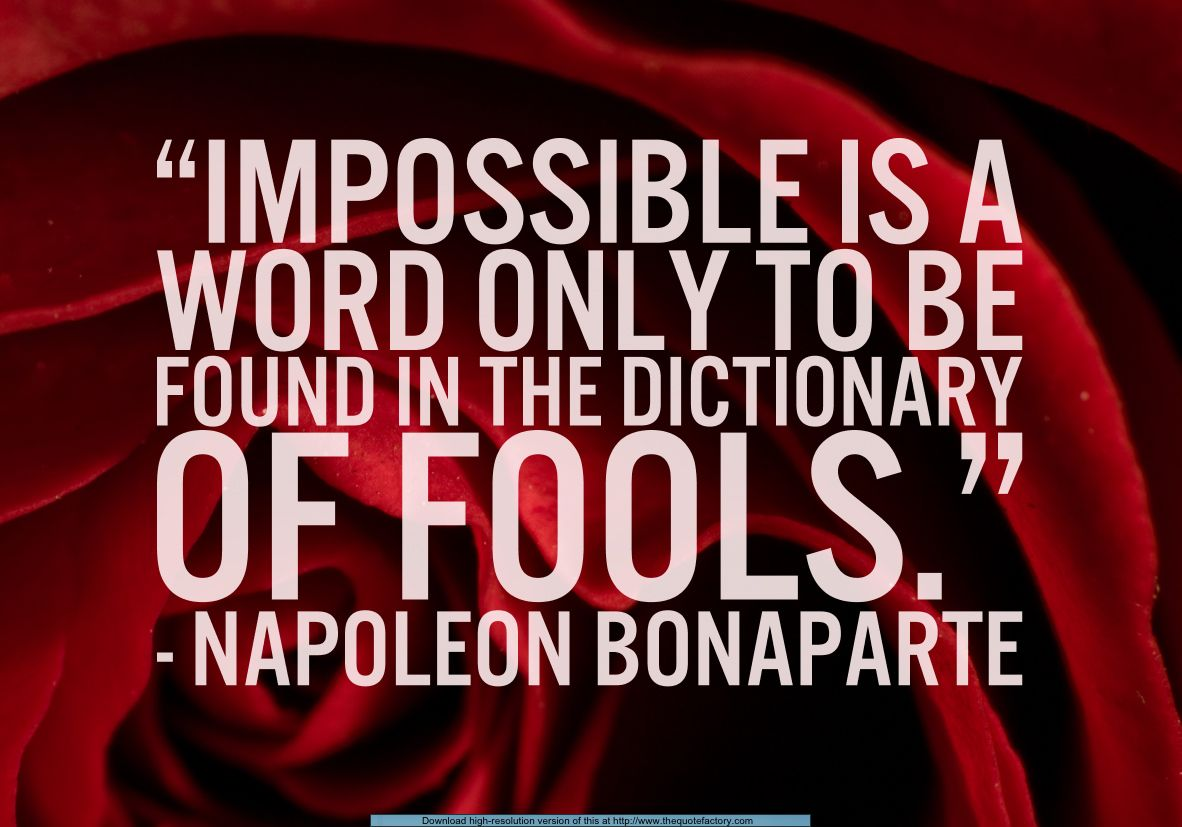 Napoleon Bonaparte Quote Citater